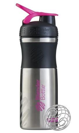 Спортивная бутылка-шейкер BlenderBottle SportMixer Stainless Steel Pink 28oz/820ml (из нержавеющей пищевой фото 3