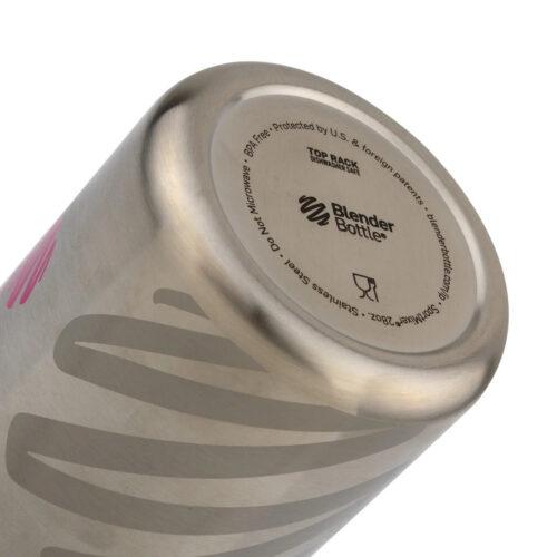 Спортивная бутылка-шейкер BlenderBottle SportMixer Stainless Steel Pink 28oz/820ml (из нержавеющей пищевой фото 2