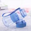 Пляшка для води CASNO 400 мл KXN-1104 Tritan Блакитна фото 4