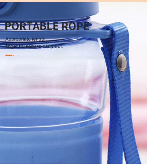 Пляшка для води CASNO 400 мл KXN-1104 Tritan Блакитна фото 6
