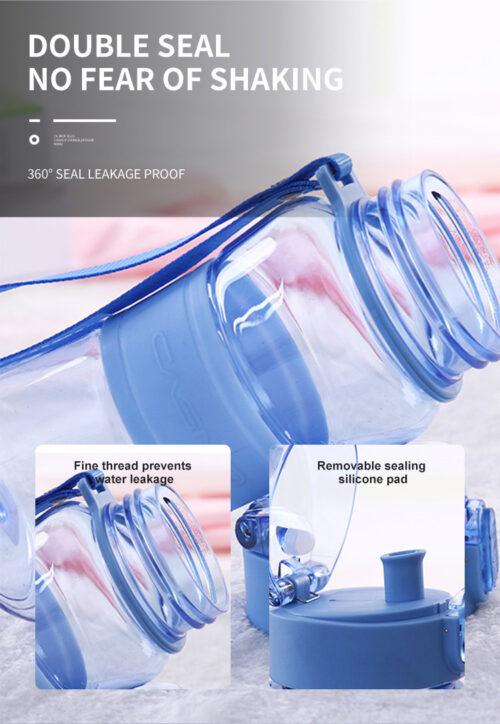 Пляшка для води CASNO 400 мл KXN-1104 Tritan Блакитна фото 7