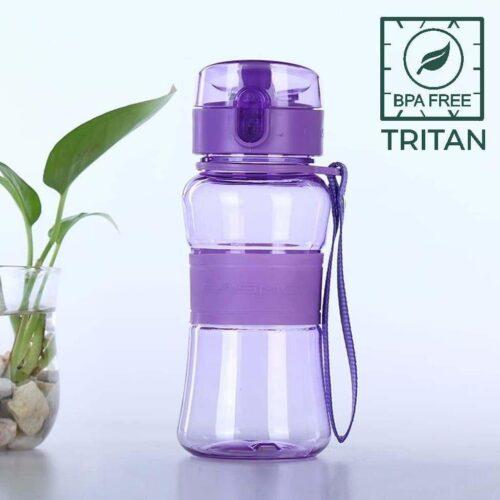 Пляшка для води CASNO 400 мл KXN-1104 Tritan Фіолетова фото 1