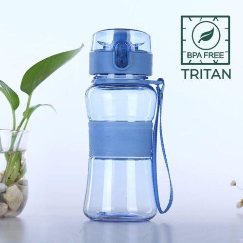 Пляшка для води CASNO 400 мл KXN-1104 Tritan Блакитна фото 1