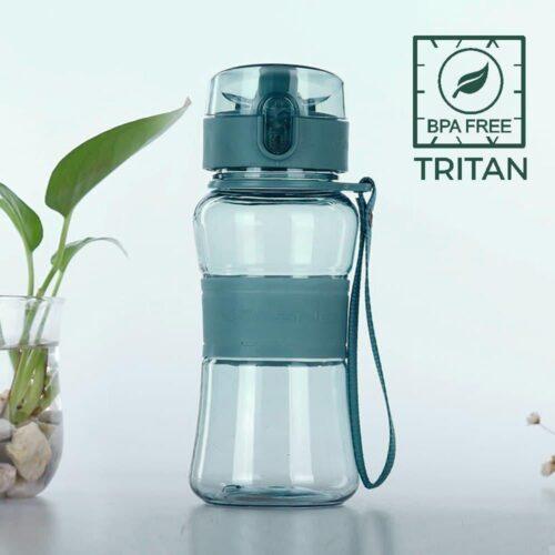 Пляшка для води CASNO 400 мл KXN-1104 Tritan Зелена фото 1