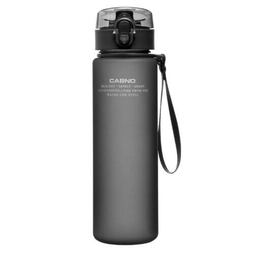 Пляшка для води CASNO 850 мл KXN-1183 Сіра + металевий вінчик фото 2