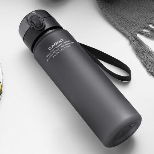 Пляшка для води CASNO 850 мл KXN-1183 Сіра + металевий вінчик фото 5
