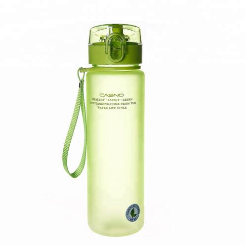 Пляшка для води CASNO 850 мл KXN-1183 Зелена + металевий вінчик фото 2