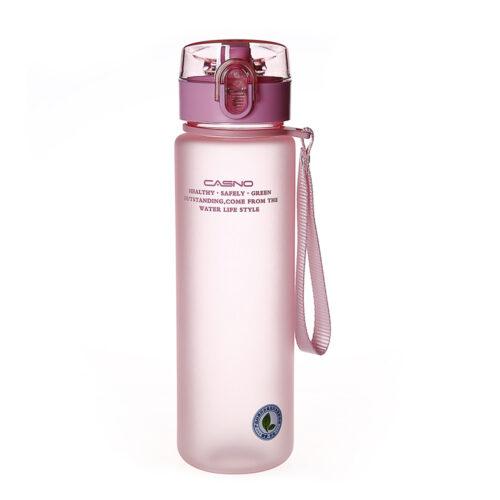 Пляшка для води CASNO 850 мл KXN-1183 Рожева + металевий вінчик фото 2