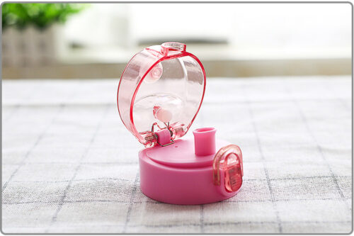 Пляшка для води CASNO 850 мл KXN-1183 Рожева + металевий вінчик фото 3