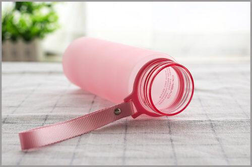 Пляшка для води CASNO 850 мл KXN-1183 Рожева + металевий вінчик фото 4