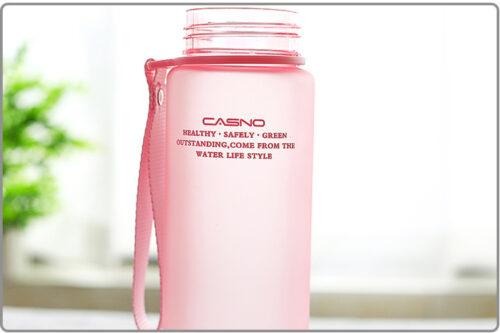 Пляшка для води CASNO 850 мл KXN-1183 Рожева + металевий вінчик фото 6