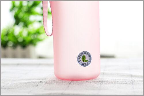 Пляшка для води CASNO 850 мл KXN-1183 Рожева + металевий вінчик фото 7