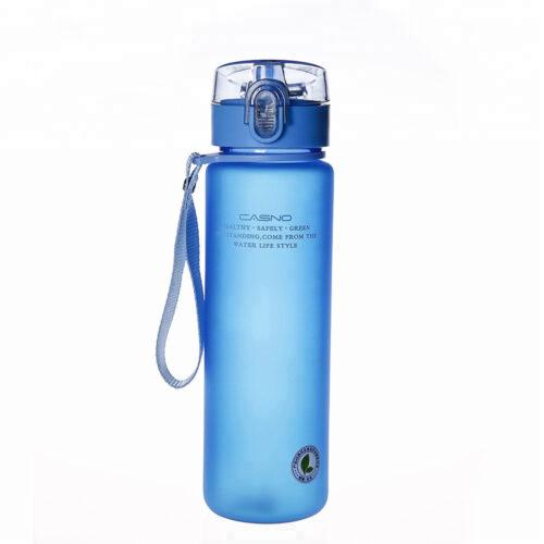 Пляшка для води CASNO 850 мл KXN-1183 Синя + металевий вінчик фото 2