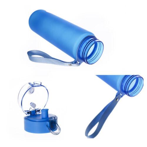 Пляшка для води CASNO 850 мл KXN-1183 Синя + металевий вінчик фото 4