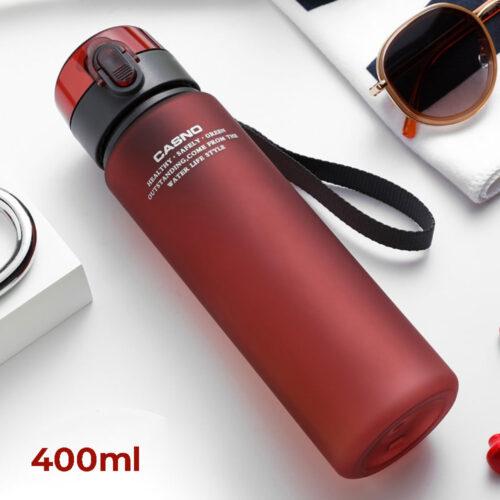 Пляшка для води CASNO 400 мл KXN-1114 Червона фото 1