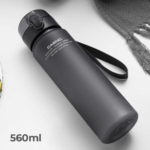 Пляшка для води CASNO 560 мл KXN-1115 Сіра фото 1