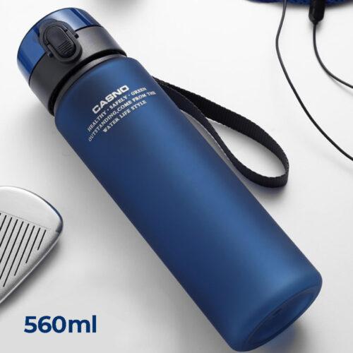 Пляшка для води CASNO 560 мл KXN-1115 Синя фото 1