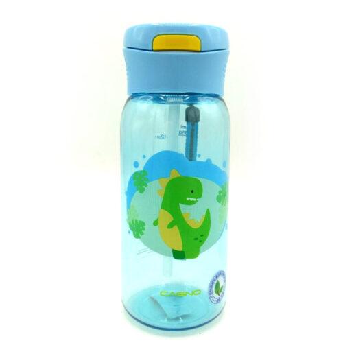Пляшка для води CASNO 400 мл KXN-1195 Блакитна (Діно) з соломинкою фото 3