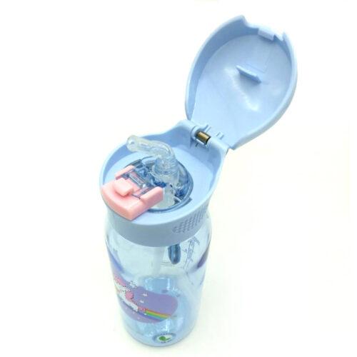 Пляшка для води CASNO 400 мл KXN-1195 Бузкова (Єдиноріг) з соломинкою фото 4