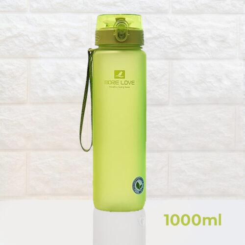 Пляшка для води CASNO 1000 мл MX-5041 More Love Зелена фото 2