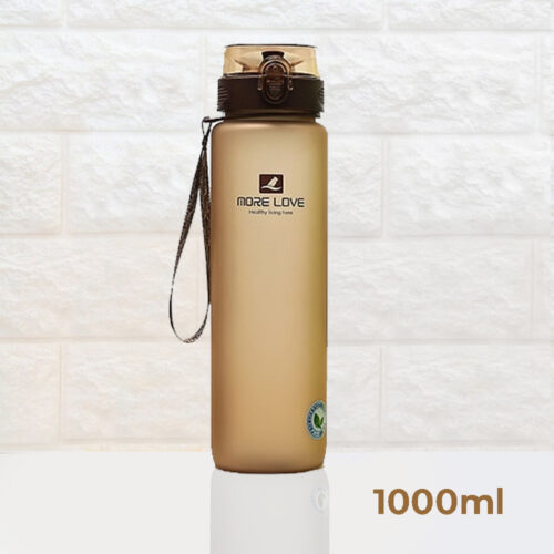 Пляшка для води CASNO 1000 мл MX-5041 More Love Коричнева фото 2