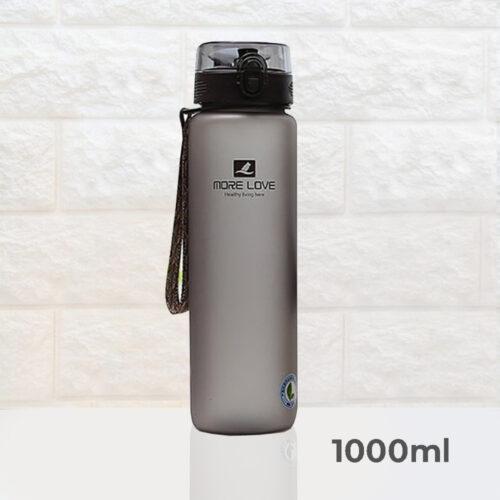 Пляшка для води CASNO 1000 мл MX-5041 More Love Сіра фото 2