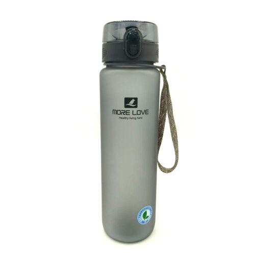 Пляшка для води CASNO 1000 мл MX-5041 More Love Сіра фото 3