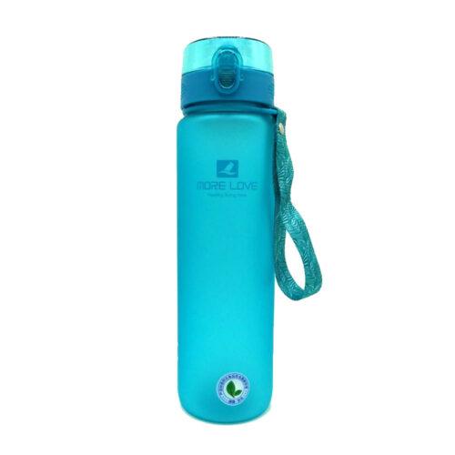 Пляшка для води CASNO 1000 мл MX-5041 More Love Блакитна фото 5
