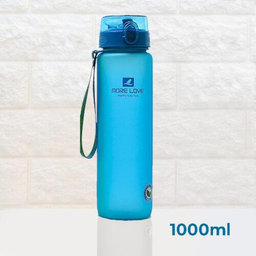 Пляшка для води CASNO 1000 мл MX-5041 More Love Блакитна фото 2