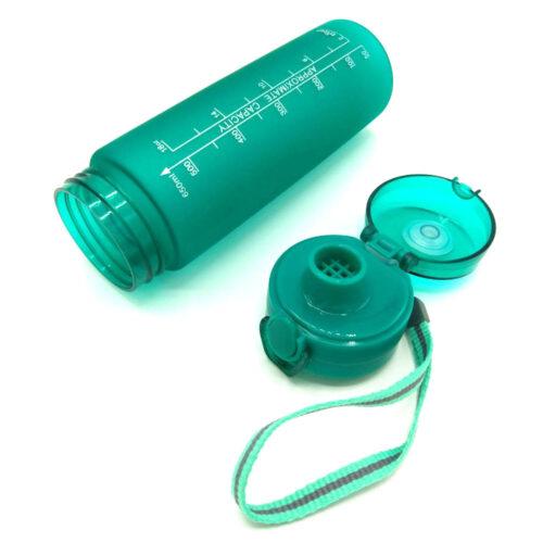 Пляшка для води CASNO 650 мл KXN-1157 Tritan Зелена фото 6