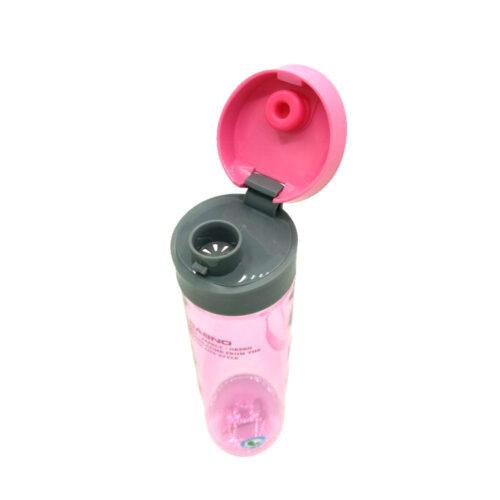 Пляшка для води CASNO 600 мл KXN-1145 Рожева + пластиковий вінчик фото 4
