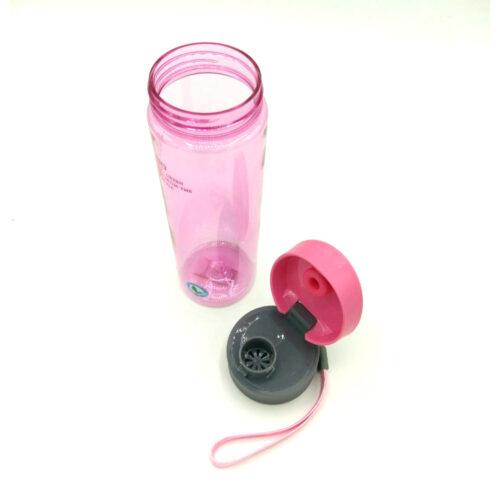 Пляшка для води CASNO 600 мл KXN-1145 Рожева + пластиковий вінчик фото 6