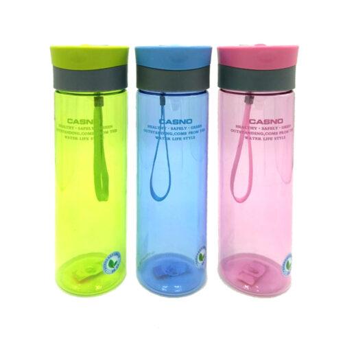 Пляшка для води CASNO 600 мл KXN-1145 Блакитна + пластиковий вінчик фото 3