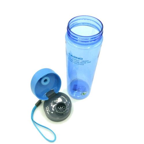 Пляшка для води CASNO 600 мл KXN-1145 Блакитна + пластиковий вінчик фото 4