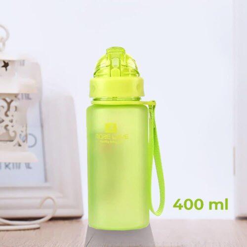 Пляшка для води CASNO 400 мл MX-5028 More Love Зелена з соломинкою фото 1