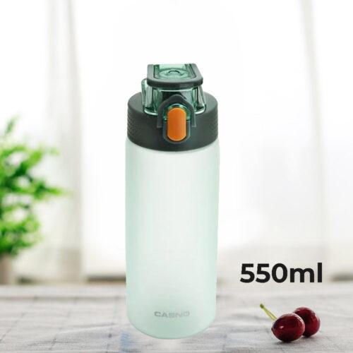 Пляшка для води CASNO 550 мл KXN-1225 Зелена фото 1