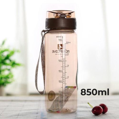 Пляшка для води CASNO 850 мл MX-5040 More Love Коричнева фото 1