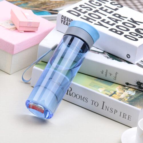 Пляшка для води CASNO 600 мл KXN-1145 Блакитна + пластиковий вінчик фото 2