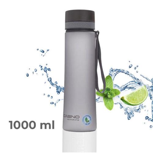 Пляшка для води CASNO 1000 мл KXN-1111 Сіра фото 1