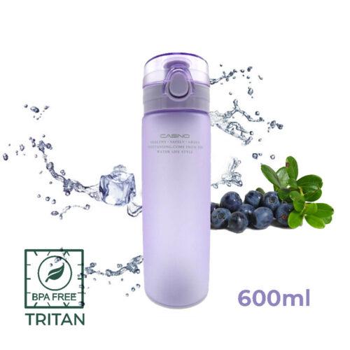 Пляшка для води CASNO 650 мл KXN-1157 Tritan Фіолетова фото 1