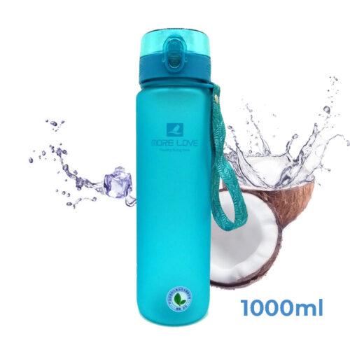 Пляшка для води CASNO 1000 мл MX-5041 More Love Блакитна фото 1