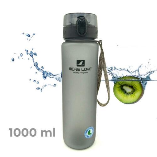 Пляшка для води CASNO 1000 мл MX-5041 More Love Сіра фото 1