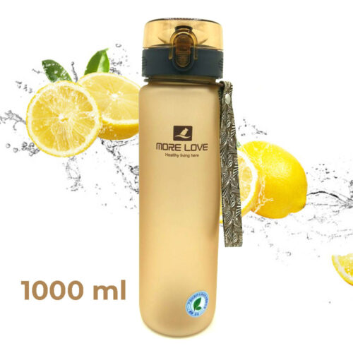 Пляшка для води CASNO 1050 мл MX-5041 More Love Коричнева фото 1