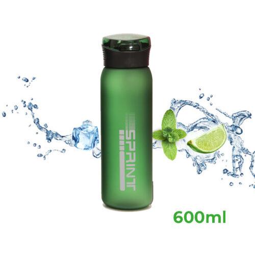 Пляшка для води CASNO 600 мл KXN-1196 Зелена з соломинкою фото 1