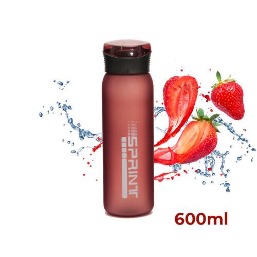 Пляшка для води CASNO 600 мл KXN-1196 Червона з соломинкою фото 1