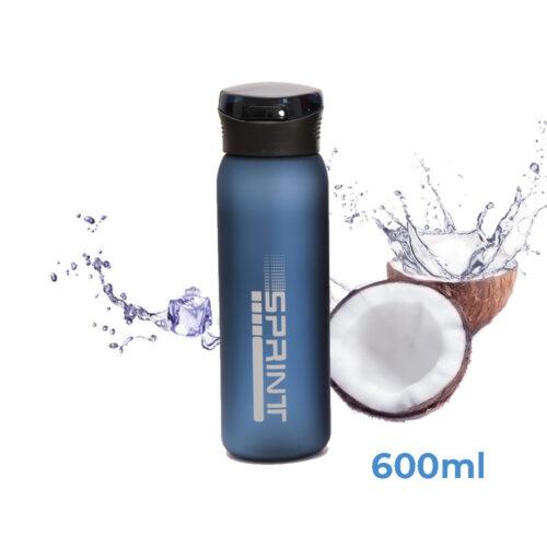 Пляшка для води CASNO 600 мл KXN-1196 Синя з соломинкою фото 1