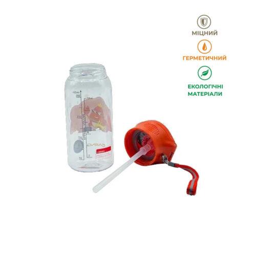 Пляшка для води CASNO 400 мл KXN-1195 Червона (краб) з соломинкою фото 6