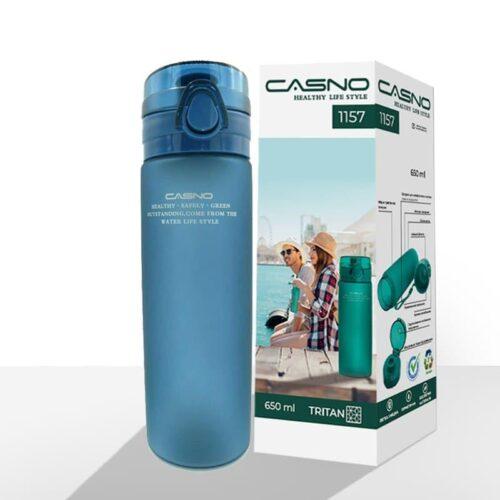 Пляшка для води CASNO 650 мл KXN-1157 Tritan Синя фото 2