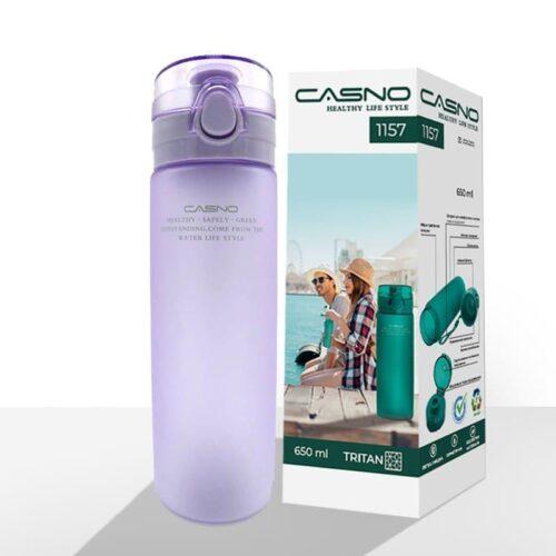 Пляшка для води CASNO 650 мл KXN-1157 Tritan Фіолетова фото 2
