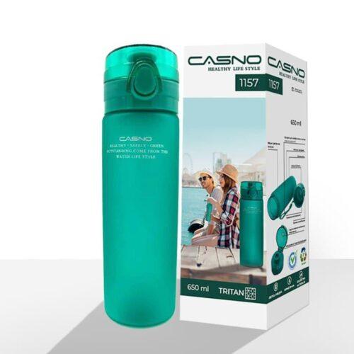 Пляшка для води CASNO 650 мл KXN-1157 Tritan Зелена фото 2